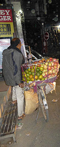 Fruit seller on Bicycle in Thamel